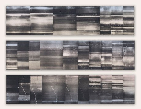 Lightning Triptych print panels 34x44 2014 72ppi