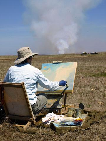 Grossman painting in Matfield Green