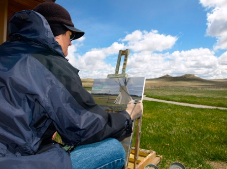 Painting at Agate Fossil Beds